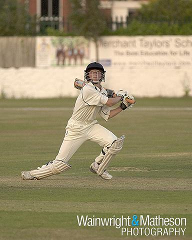 six bat ball cricket hit